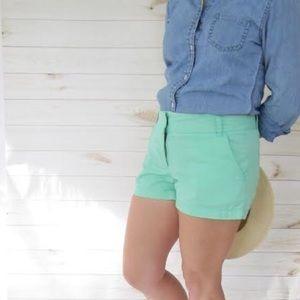 Jcrew 3in Chino Shorts in Mint Green